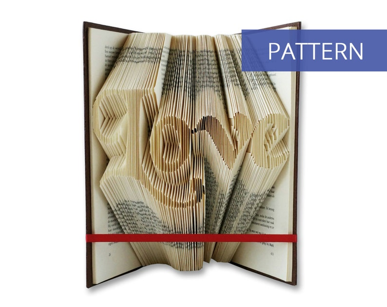 Unique gifts for girlfriend / Book folding patterns / Folded image 0
