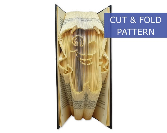 75 folds Most clear and easiest pattern on Etsy Folded book art Book folding pattern baby Beginners pattern Measure and mark