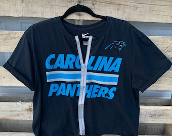 Carolina Panthers Women s Tshirt  Carolina Panthers Vintage Tshirt  Carolina  Panthers  NFL Tshirt  Vintage Womens Zipper Tshirt 4ed63cc19