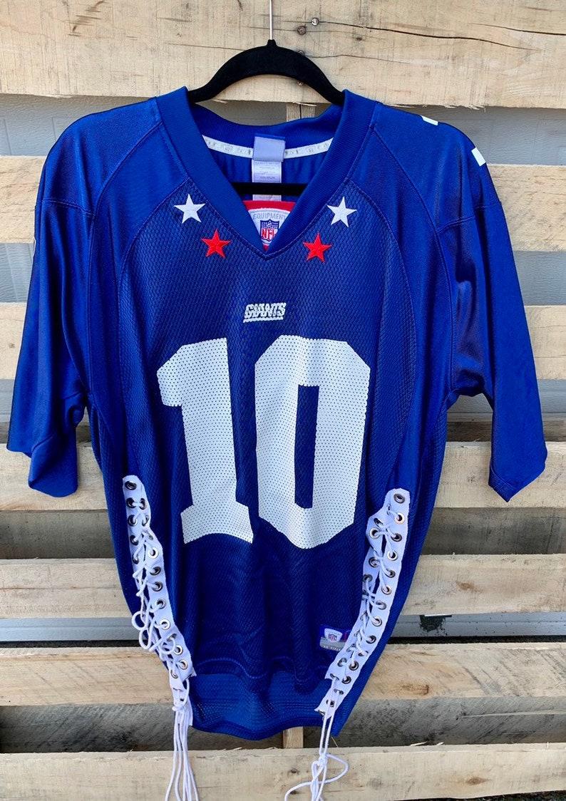 sale retailer ccd49 8c0ff Vintage Eli Manning New York Giants Jersey/ Vinatge New York Giants/ Eli  Manning/ NYG/ NFL Womens Jersey/ Re-worked Vintage