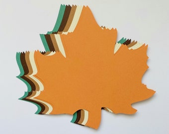 New Color Combo! 20 of 4 inch Large Fall Maple Leaves Die Cuts Thanksgiving Gift Tags Leave Punches set of 20