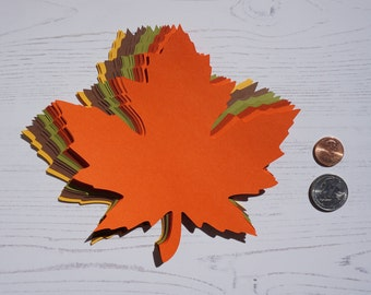 """READY TO SHIP! 6.0"""" x 6.1"""" inch Large Fall Maple Leaves Die Cuts Thanksgiving Gift Tags Leave Punches set of 20"""