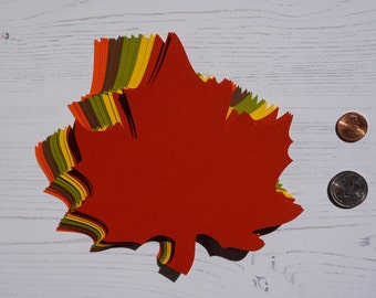 """5.6"""" x 6.1"""" inch Large Fall Maple Leaves Die Cuts Thanksgiving Gift Tags Scrapbooking Card embellishment Leave Punches set of 20"""