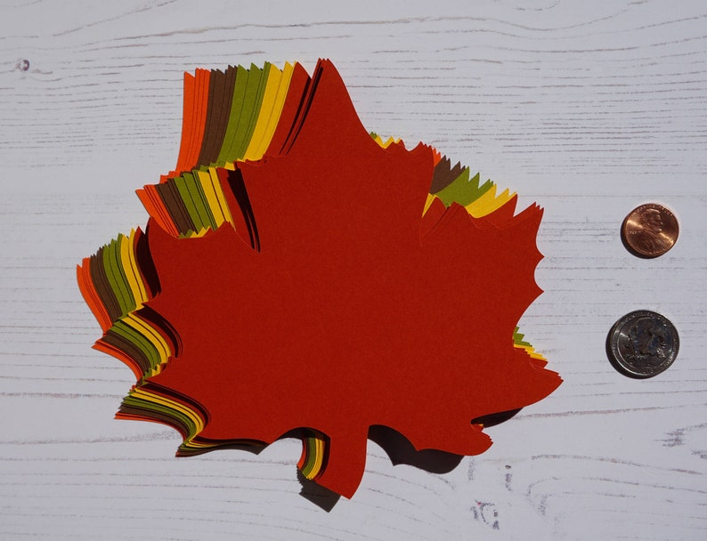 5.6 x 6.1 inch Large Fall Maple Leaves Die Cuts image 0