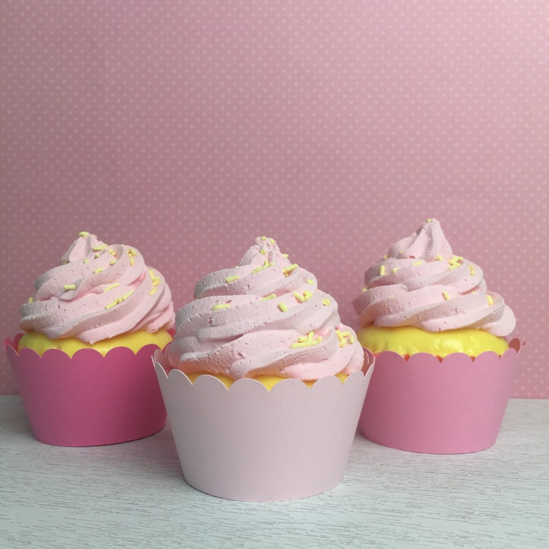 Mixed Pink Cupcake Wrappers Standard Size Cupcake Liners image 0