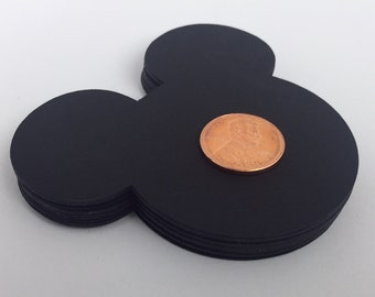 20 Large Black Mickey Mouse die cuts 3 inches, Confetti, Mickey Mouse Birthday, Mickey Mouse Baby Shower, Mickey Party, Disney die cuts