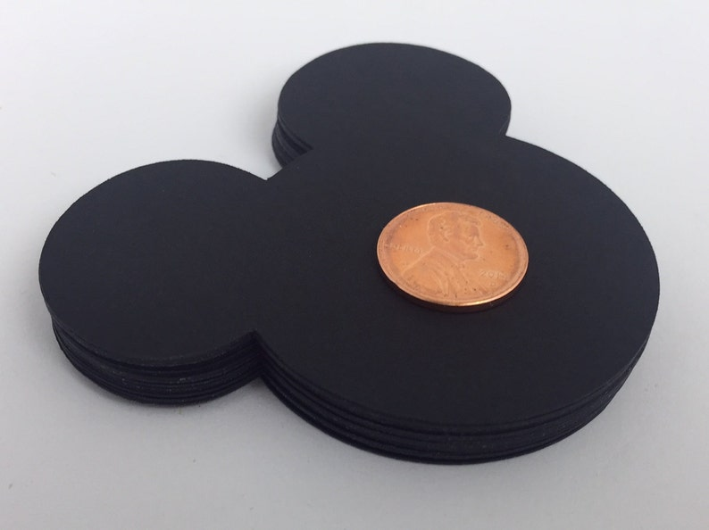 20 Large Black Mickey Mouse die cuts 3 inches Confetti image 0