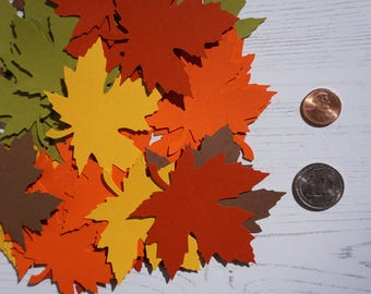 20 Large 3 inches Fall Maple Leaves Die Cuts Thanksgiving decor Thanksgiving Gift Tags Scrapbooking Card embellishment Leave Punches