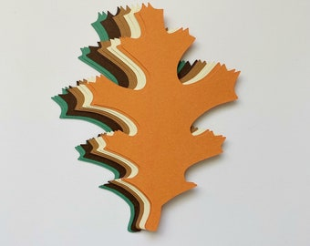 New Color Combo! 4 inch Large Fall Maple Leaves Die Cuts Thanksgiving Gift Tags Scrapbooking Card embellishment Leave Punches Set of 20