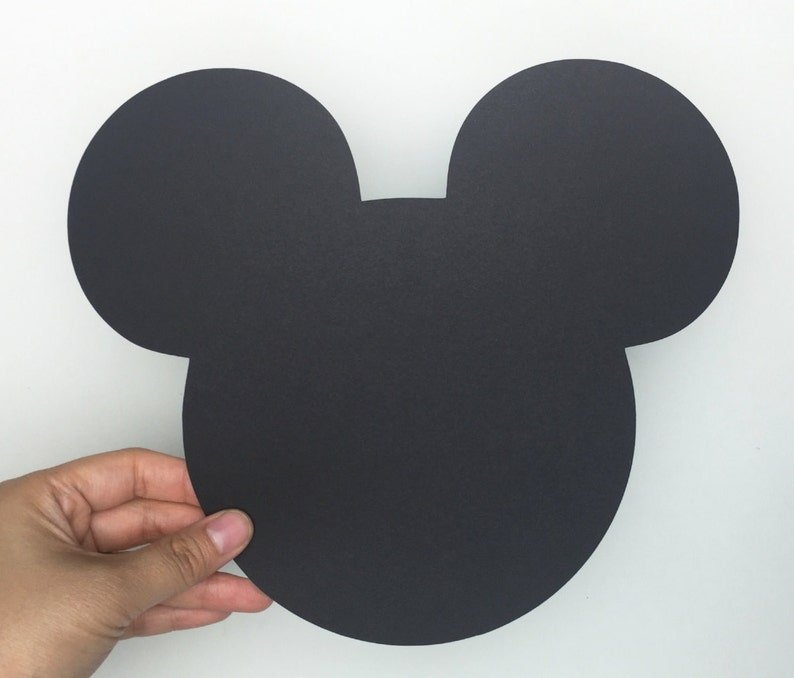 10 Large Black Mickey Mouse die cuts 7.0x7.9 inches Mickey image 0