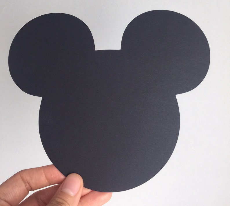 10 Large Black Mickey Mouse die cuts 5.3x6.1 inches Mickey image 0