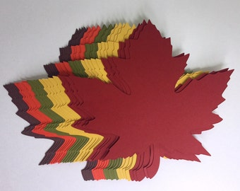 """4 inch Large Fall Maple Leaves Die Cuts (4.2""""x4.3"""") Gift Tags Scrapbooking Card embellishment Leave Punches set of 20"""