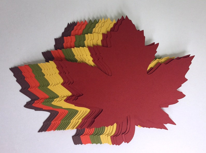 4 inch Large Fall Maple Leaves Die Cuts 4.2x4.3 image 0