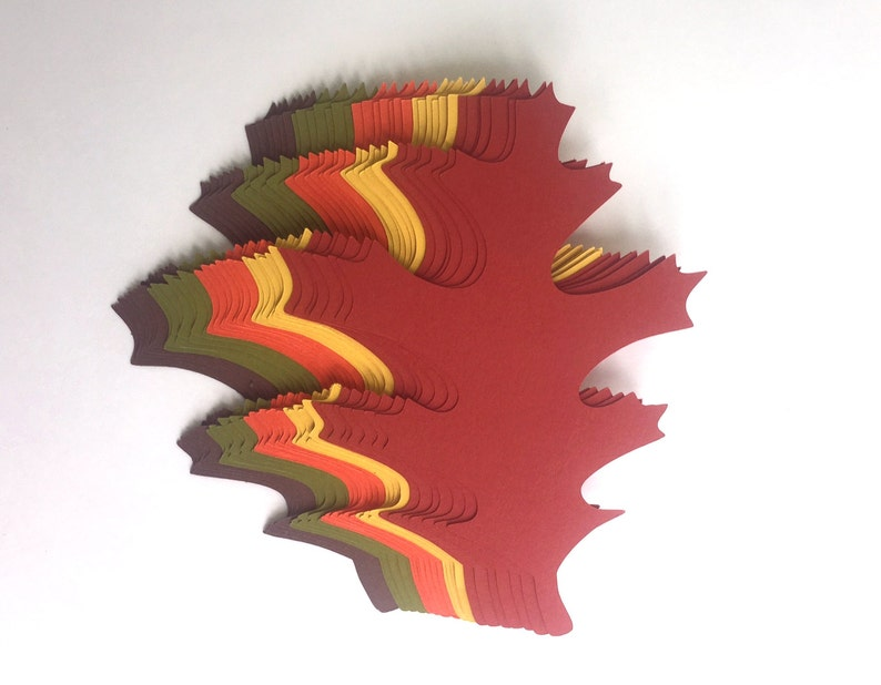 4 inch Large Fall Maple Leaves Die Cuts Thanksgiving Gift Tags image 0