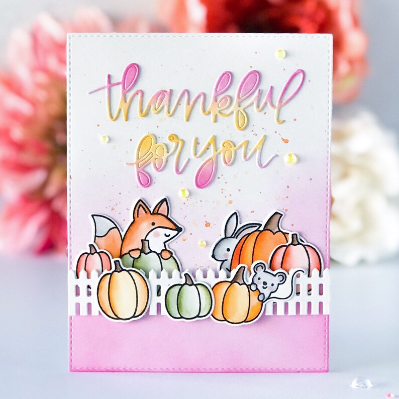 Handmade Fall/Autumn thanksgiving greeting Card image 0