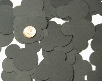 40 Large Black Mickey Mouse Confetti, Mickey Mouse Birthday, Mickey Mouse Baby Shower, Mickey Party, Disney die cuts 2 inches