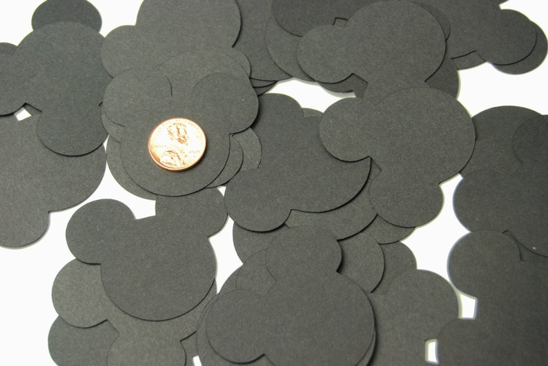 40 Large Black Mickey Mouse Confetti Mickey Mouse Birthday image 0