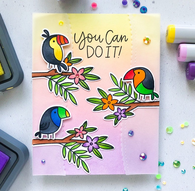 Handmade Greeting Card Encouragement Card You can do it image 0