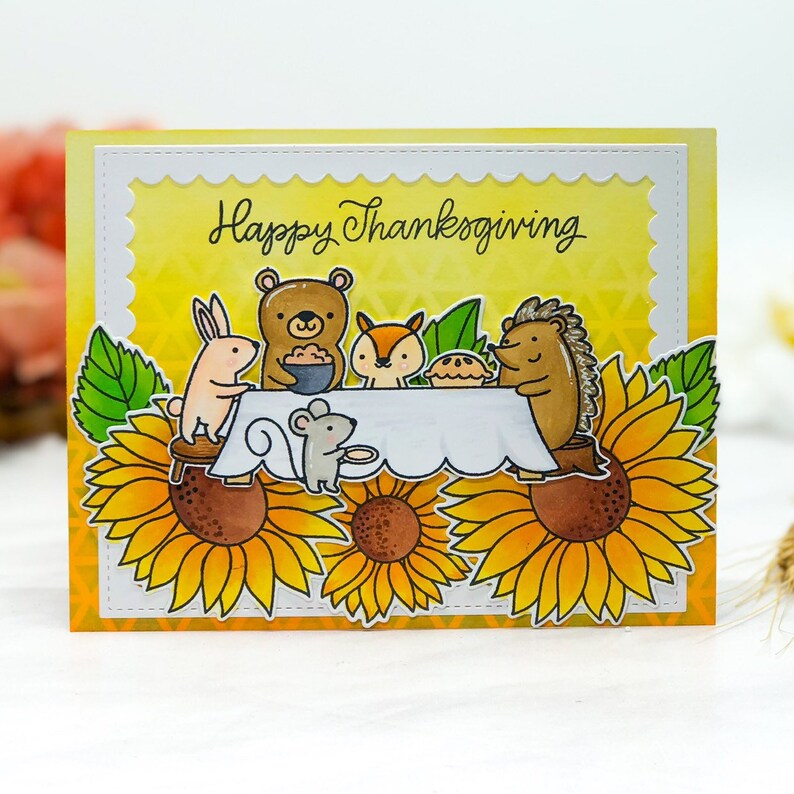 Handmade Fall/Autumn thanksgiving greeting Card image 0