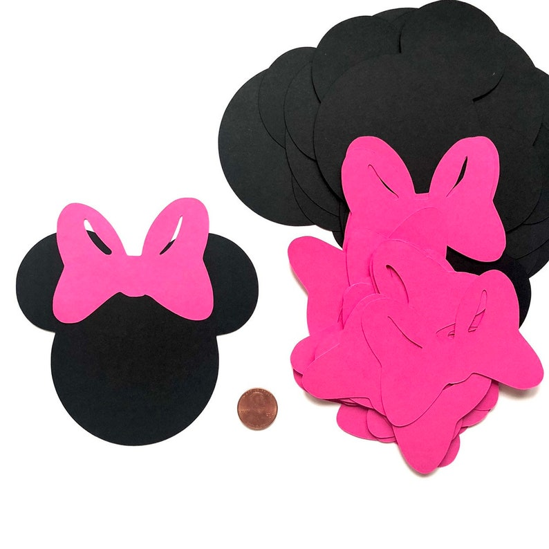 10  Minnie Mouse die cuts  4.3 x 4.5 inches Minnie Mouse image 0