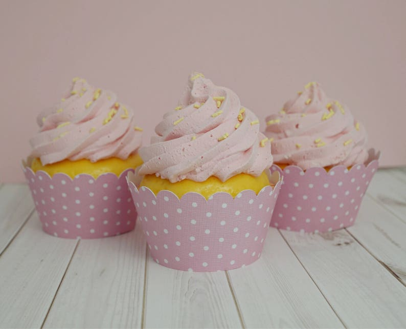 Light Pink with White Polka Dots  Cupcake Wrappers Standard image 0