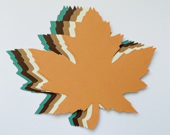 """New Color Combo! 4 inch Large Fall Maple Leaves Die Cuts (4.2""""x4.3"""") Gift Tags Scrapbooking Card embellishment Leave Punches set of 20"""