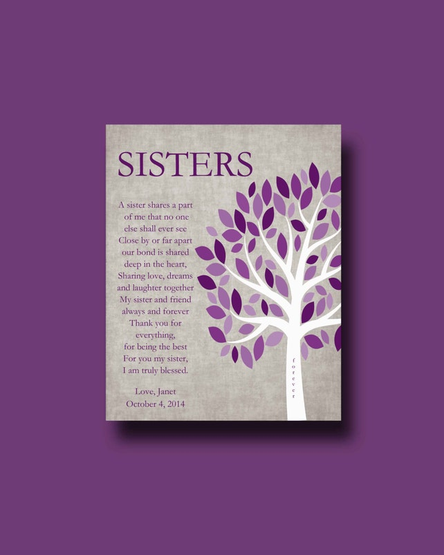 Schwestern Geschenk Drucken personalisiertes Geschenk für | Etsy