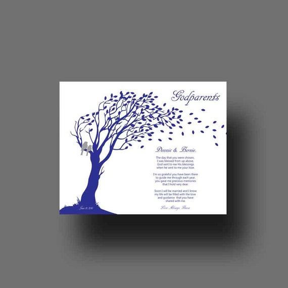 Godmother Wedding Gift: GODPARENTS Gift Godmother Gift From Bride On Wedding Day
