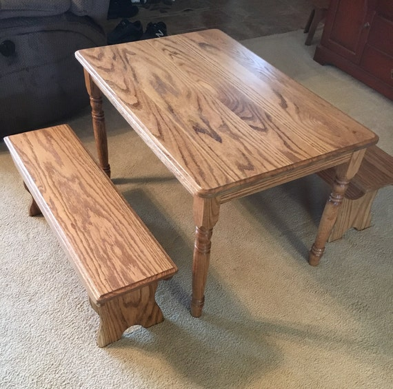 Outstanding Beautiful Kids Wooden Table And Bench Set Creativecarmelina Interior Chair Design Creativecarmelinacom