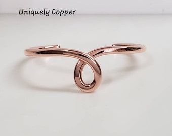 Copper Cuff Bracelet Copper Jewelry 7th Anniversary Gift Copper Bracelets Copper Cuff Wife Gift Tear Drop Bracelet Copper Anniversary