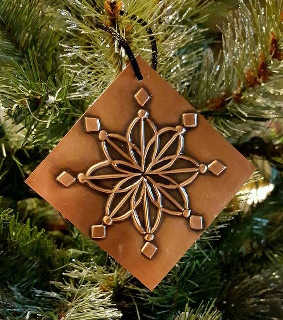 Copper Christmas Ornaments.Snowflake Ornament Copper Snowflake Christmas Ornaments Copper Ornaments Christmas Decorations Christmas Gift Personalized Ornaments