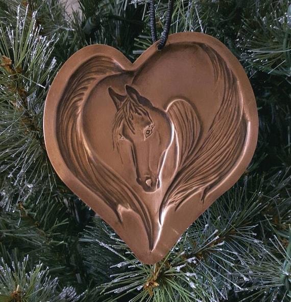 Copper Christmas Ornaments.Horse Ornament Copper Ornament Christmas Ornaments Copper Horse Ornament Horse Lover Horse Lover Gift Personalized Ornaments Horse