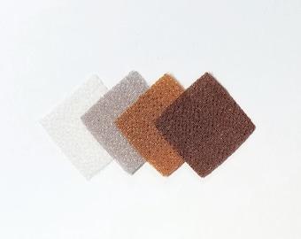 30 - precut 20mm squares for Tsumami Kanzashi - neutral brown hues