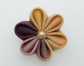 Floral kanzashi hair clip