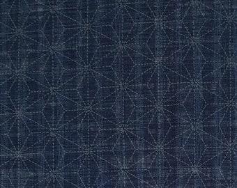 Sevenberry Japan Sevenberry Nara Homespun Collection - indigo blue asanoha hemp leaf cotton