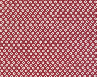 Cosmo Japan red faux shibori cotton fabric - by the yard