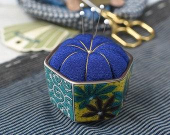 Hiro Japan Kutani sake cup pin cushion