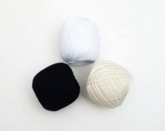 Thin weight sashiko thread- neutral hued colors - 80 meter ball