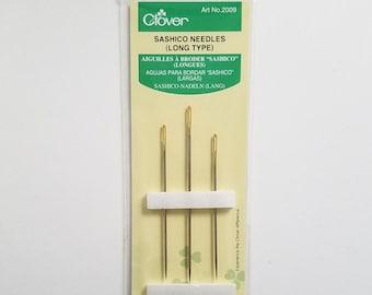 Clover Japan sashiko hand stitching needles - 3 needles - long size