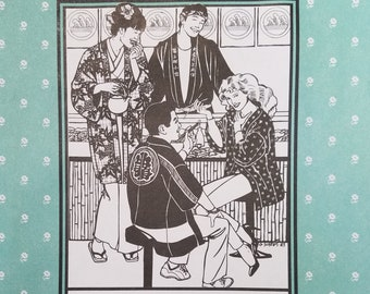 Folkware sewing pattern # 129 Japanese Hapi and Haori with Bonus Tabi sock pattern