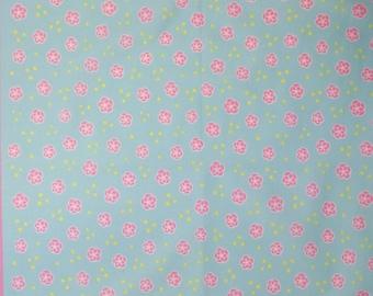 Japanese cotton tenugui hand towel cloth - pink floral
