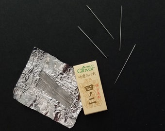 Clover Japan hand stitching needles - 25 needles in 4/2 size