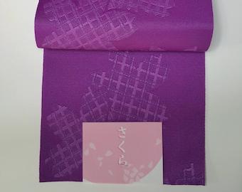 New hanhaba yukata obi - purple woven sakura
