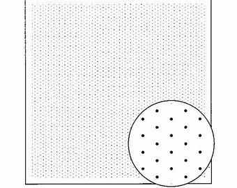Olympus sashiko pre-printed wash-away pattern sampler for hitomezashi - Diagonal Grid pattern - Navy or White color