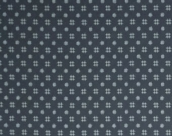 Japanese import New indigo colored cotton quilting fabric - cross hatch patches