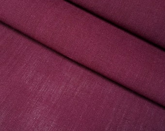 Vintage, maroon red violet colored yukata cotton - by the yard