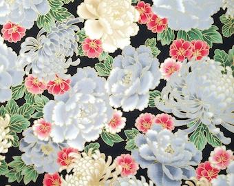 Imperial Collection by Studio RK - Onyx Kiku Chrysanthemum, Peony and Sakura Cherry Blossom