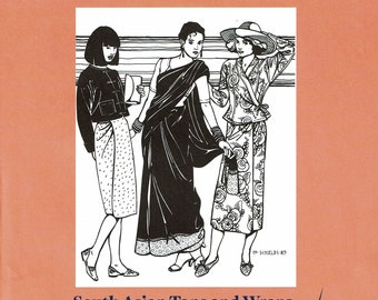 Folkware sewing pattern #134 South Asian Tops and Wraps - Misses XS to 3X Large.