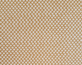 Cosmo Japan gold ocher faux shibori cotton fabric - by the yard