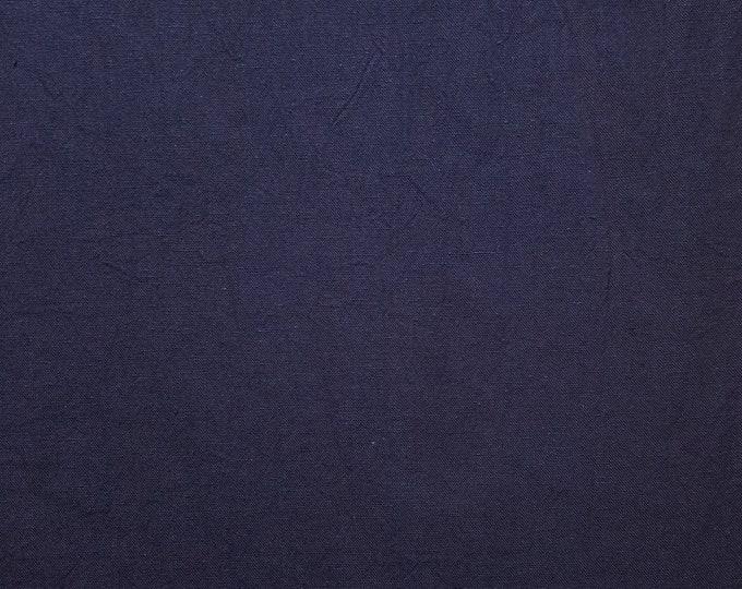 Featured listing image: Botanical indigo dyed Japanese aizome cotton fabric